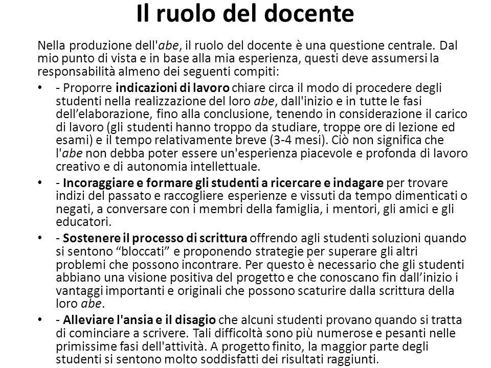 Il ruolo del docente