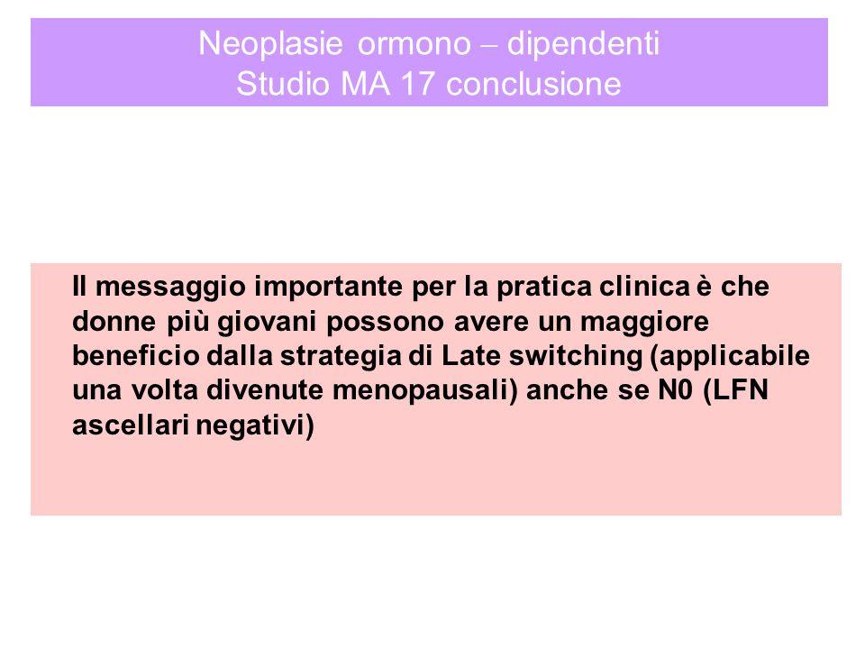 Neoplasie ormono – dipendenti Studio MA 17 conclusione