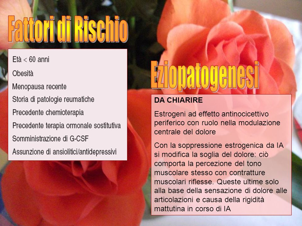 Fattori di Rischio Eziopatogenesi DA CHIARIRE