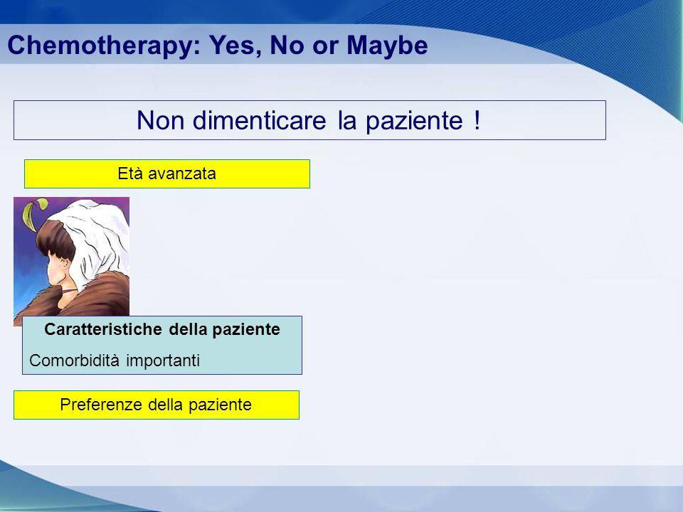 Caratteristiche della paziente