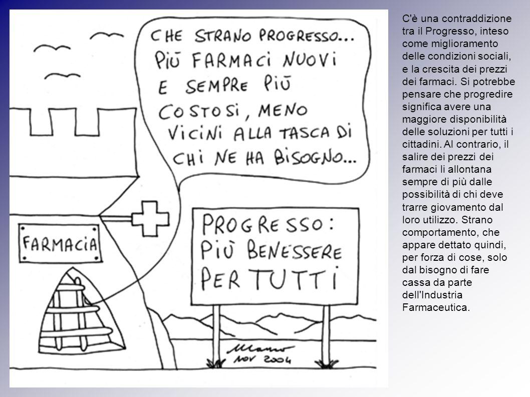C è una contraddizione tra il Progresso, inteso come miglioramento delle condizioni sociali, e la crescita dei prezzi dei farmaci.
