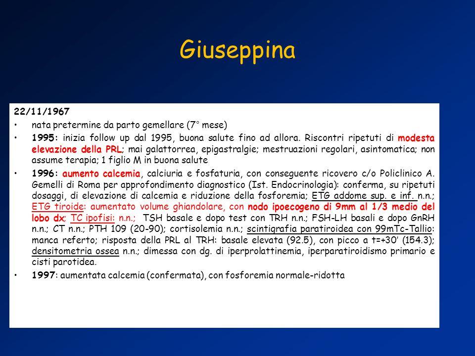 Giuseppina 22/11/1967 nata pretermine da parto gemellare (7° mese)