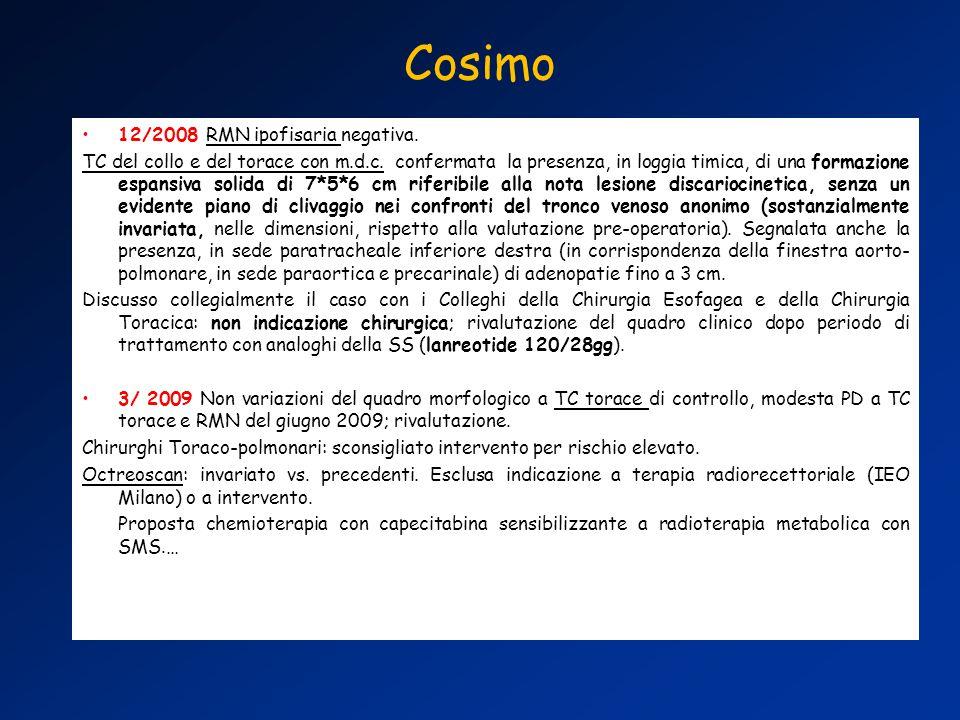 Cosimo 12/2008 RMN ipofisaria negativa.