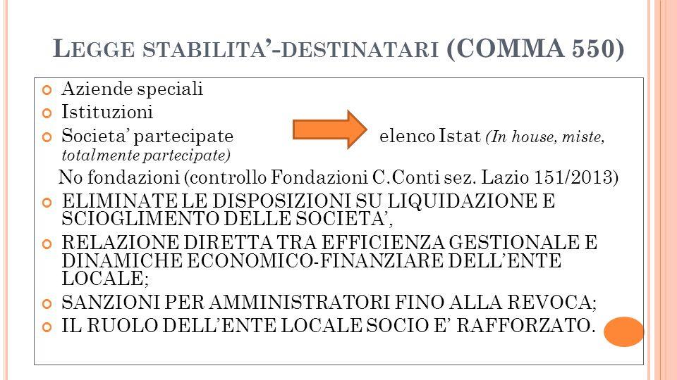 Legge stabilita'-destinatari (COMMA 550)