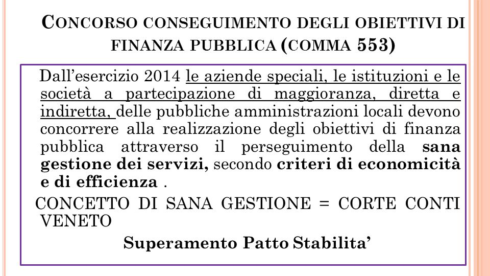 Concorso conseguimento degli obiettivi di finanza pubblica (comma 553)