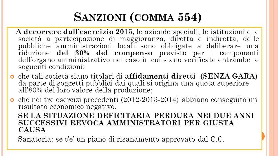 Sanzioni (comma 554)