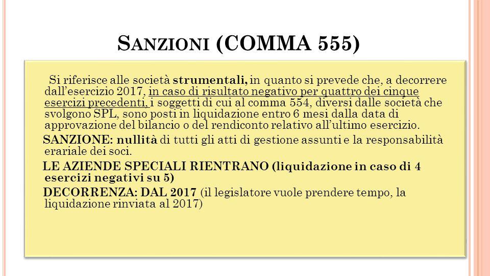 Sanzioni (COMMA 555)