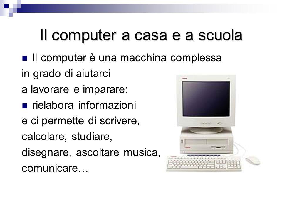Il computer a casa e a scuola