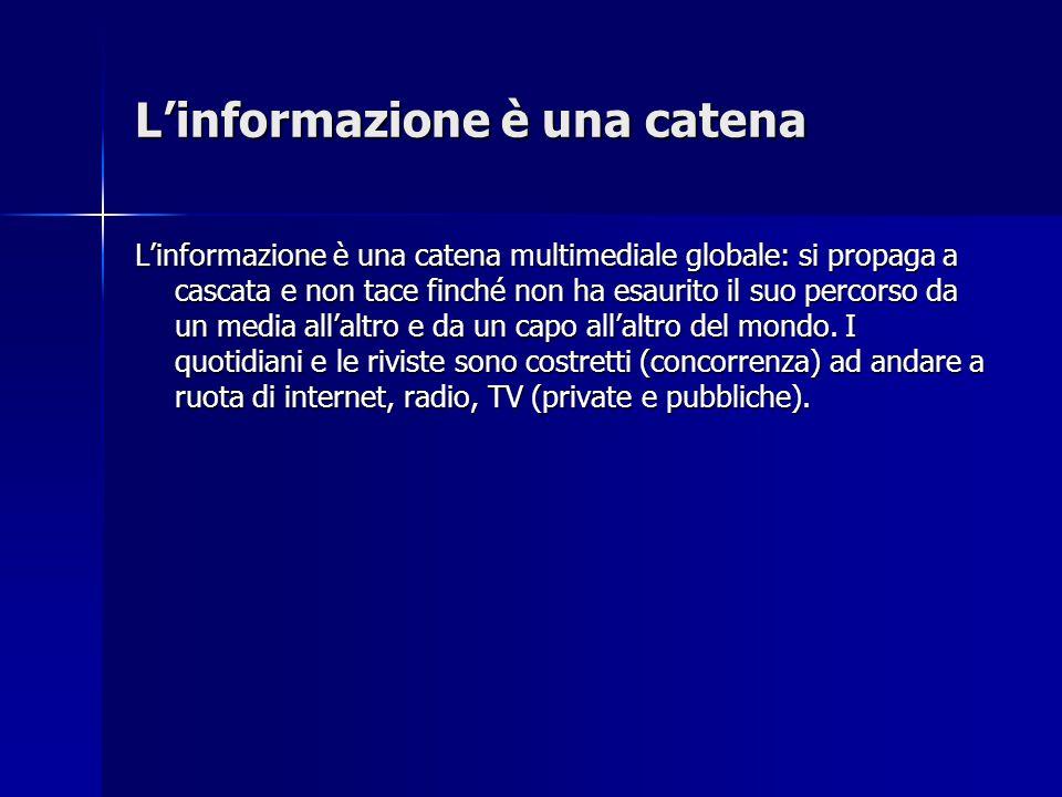 L'informazione è una catena