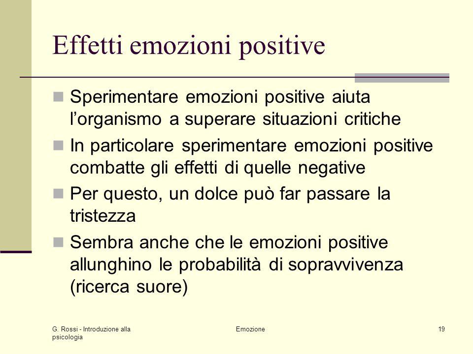 Effetti emozioni positive