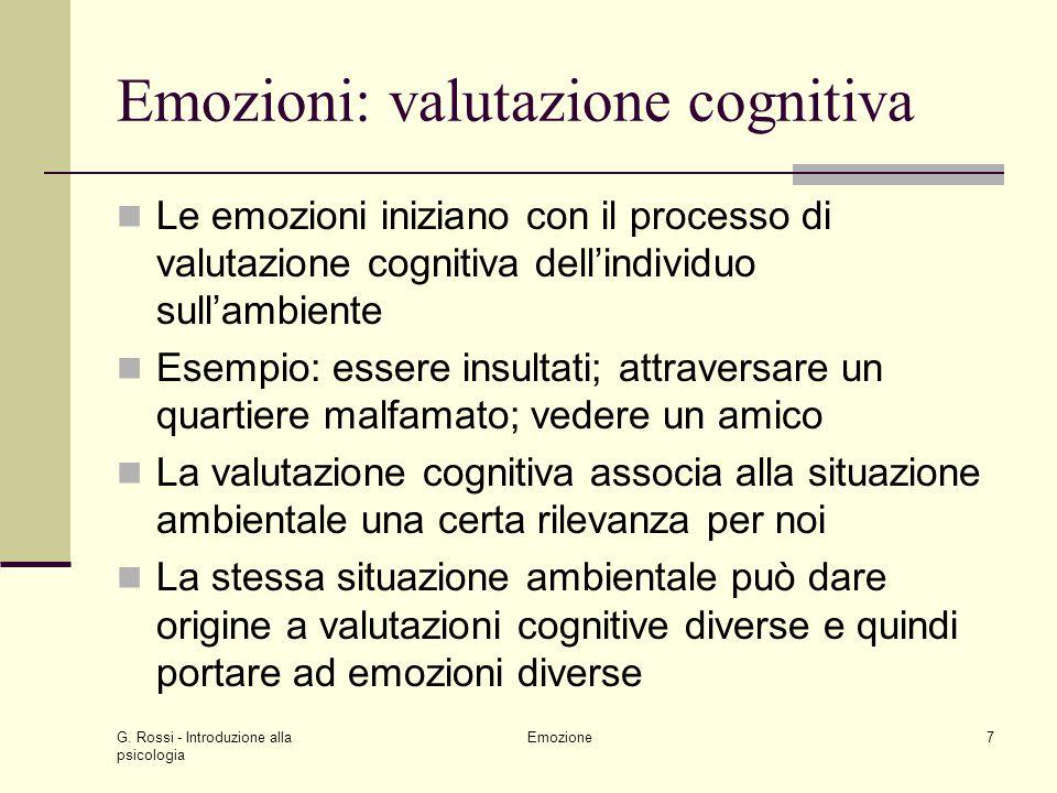 Emozioni: valutazione cognitiva