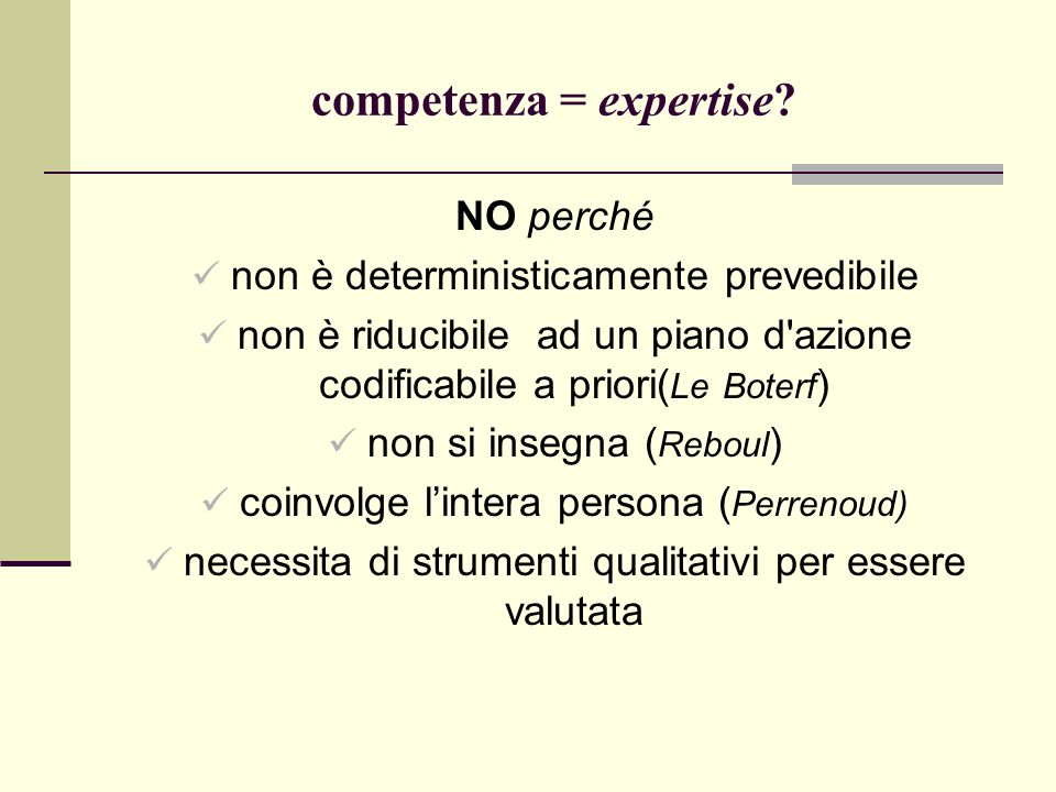 competenza = expertise