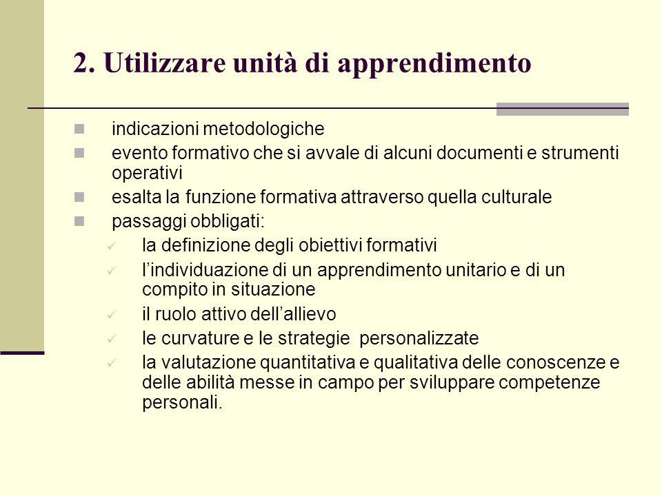 2. Utilizzare unità di apprendimento