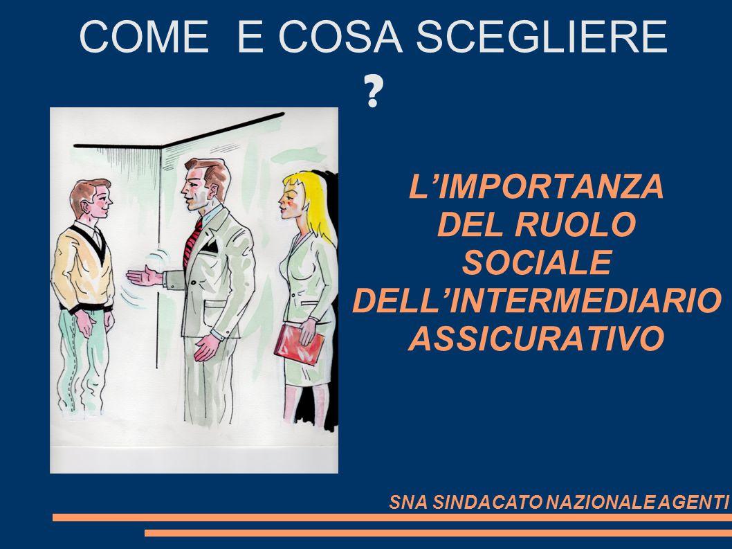 L'IMPORTANZA DEL RUOLO SOCIALE DELL'INTERMEDIARIO ASSICURATIVO