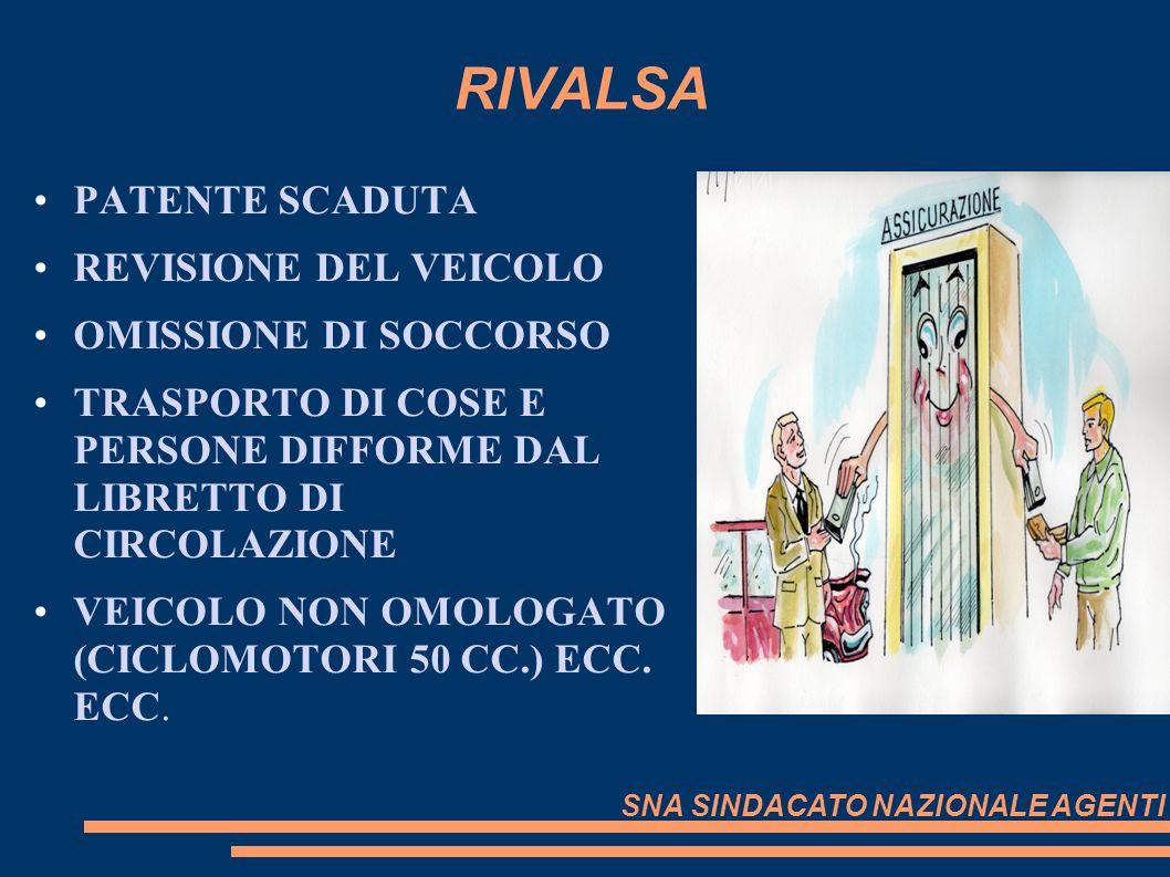 RIVALSA PATENTE SCADUTA REVISIONE DEL VEICOLO OMISSIONE DI SOCCORSO