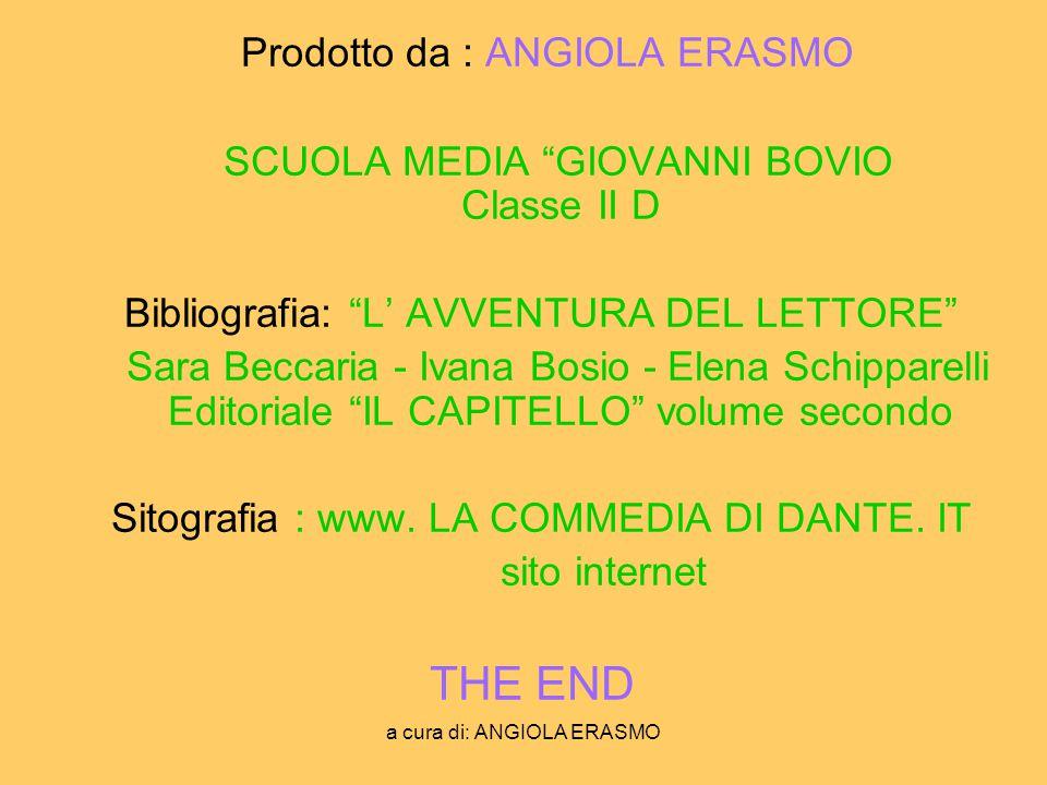 Prodotto da : ANGIOLA ERASMO
