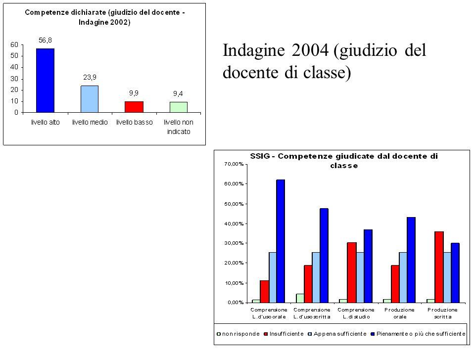Indagine 2004 (giudizio del docente di classe)