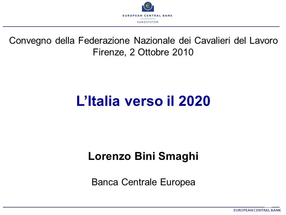 L'Italia verso il 2020 Lorenzo Bini Smaghi
