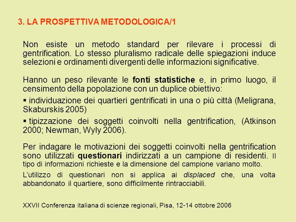 3. LA PROSPETTIVA METODOLOGICA/1