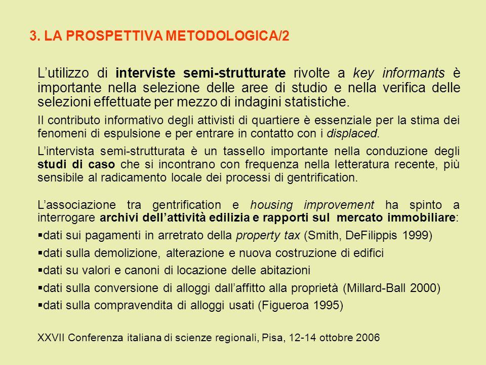 3. LA PROSPETTIVA METODOLOGICA/2