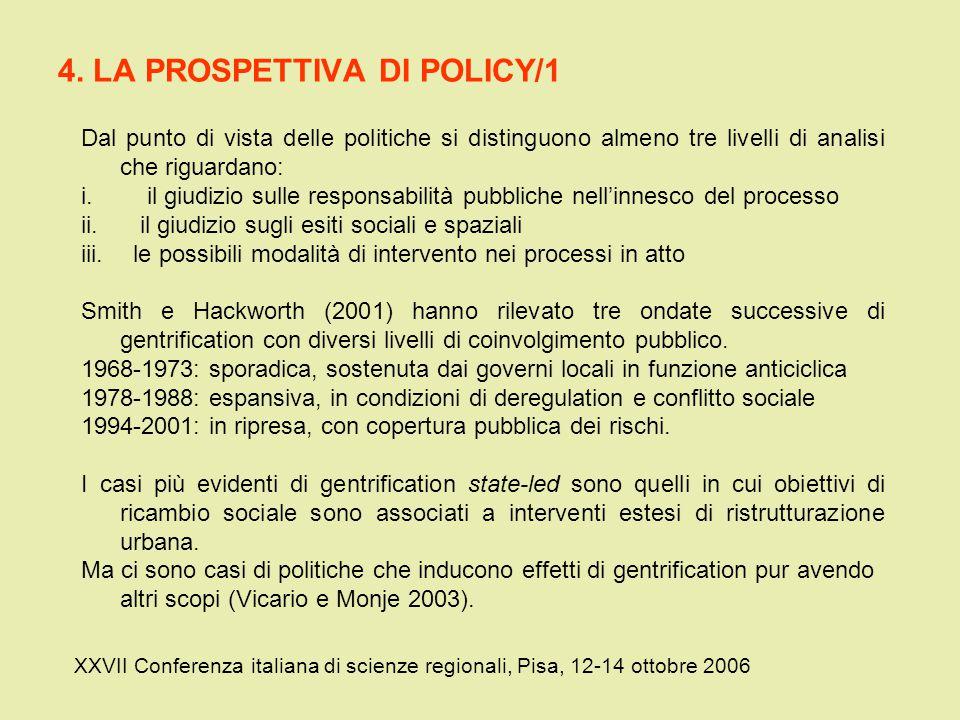 4. LA PROSPETTIVA DI POLICY/1