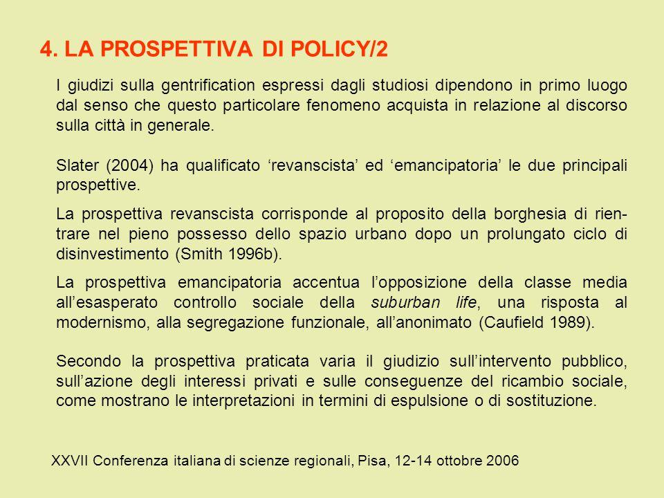 4. LA PROSPETTIVA DI POLICY/2