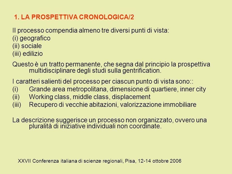 1. LA PROSPETTIVA CRONOLOGICA/2