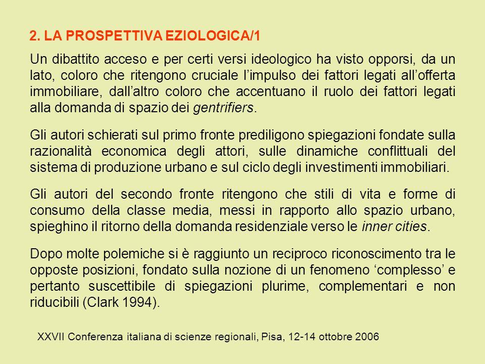 2. LA PROSPETTIVA EZIOLOGICA/1