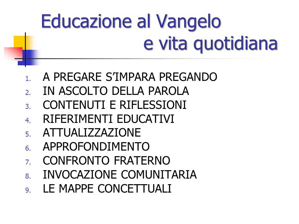 Educazione al Vangelo e vita quotidiana