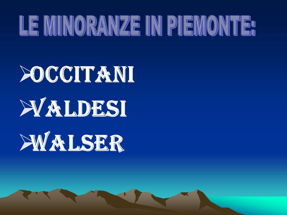 LE MINORANZE IN PIEMONTE: