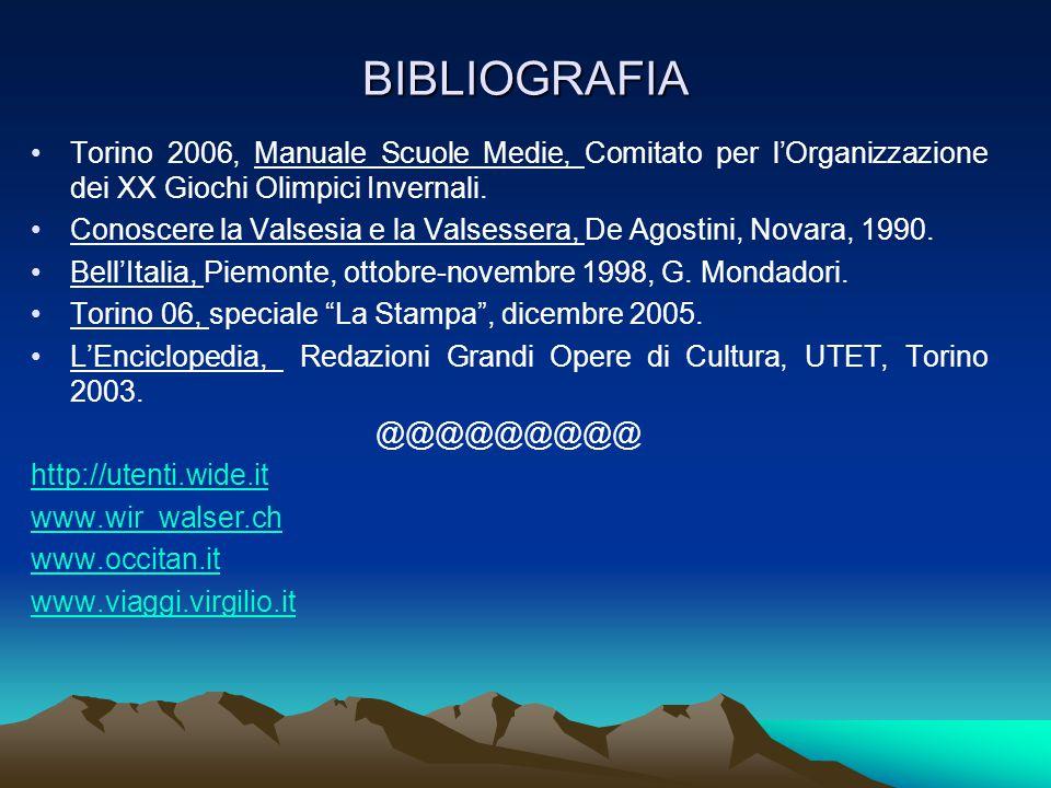 BIBLIOGRAFIA Torino 2006, Manuale Scuole Medie, Comitato per l'Organizzazione dei XX Giochi Olimpici Invernali.