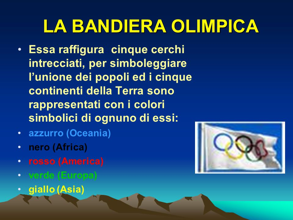 LA BANDIERA OLIMPICA