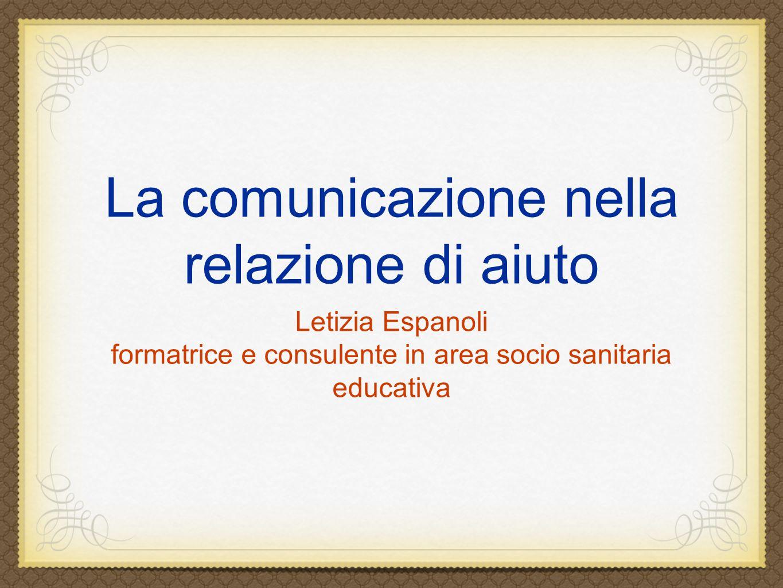 La comunicazione nella relazione di aiuto
