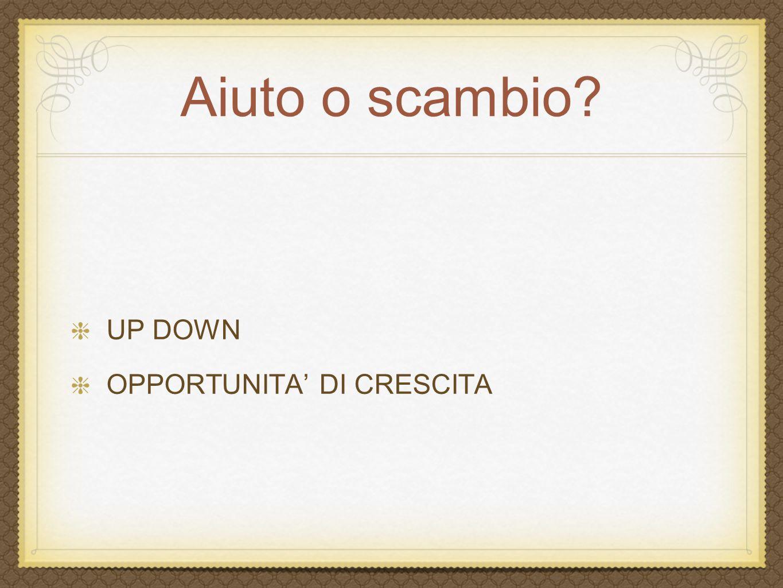 Aiuto o scambio UP DOWN OPPORTUNITA' DI CRESCITA