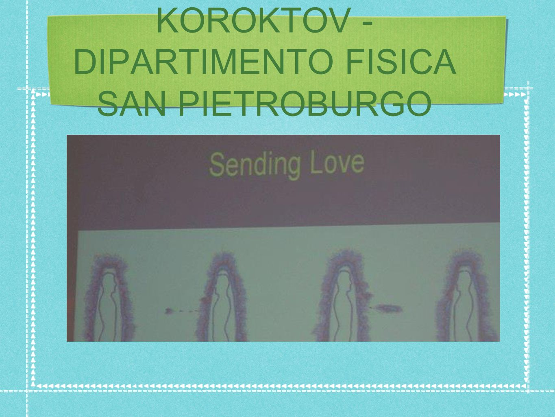 KOROKTOV - DIPARTIMENTO FISICA SAN PIETROBURGO