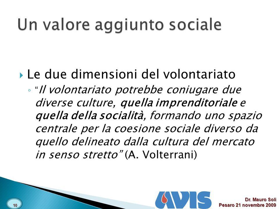 Un valore aggiunto sociale