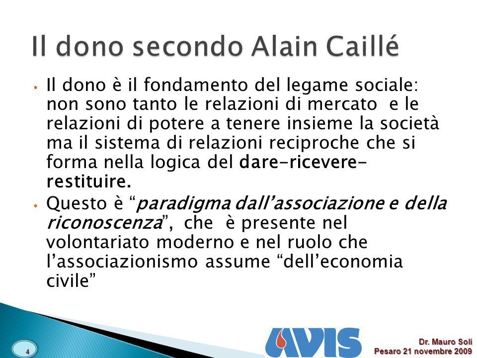 Il dono secondo Alain Caillé