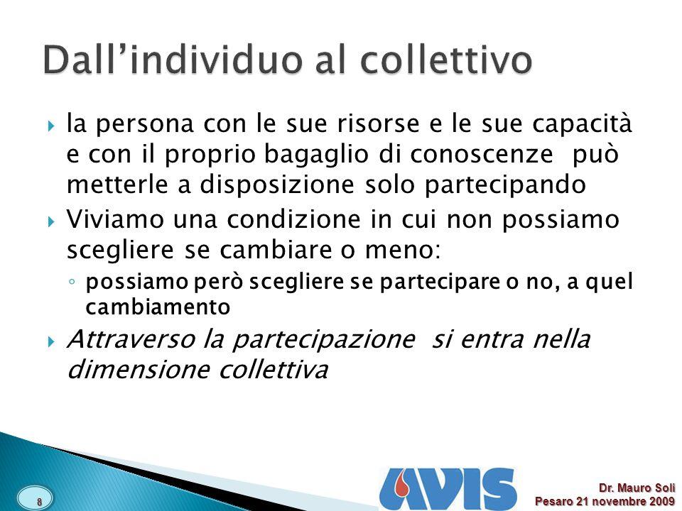 Dall'individuo al collettivo