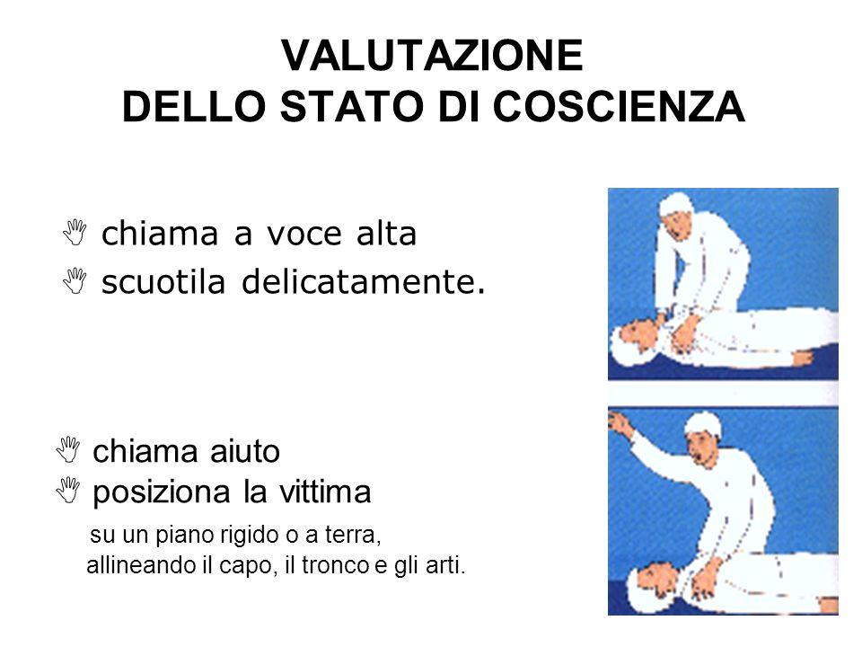 VALUTAZIONE DELLO STATO DI COSCIENZA