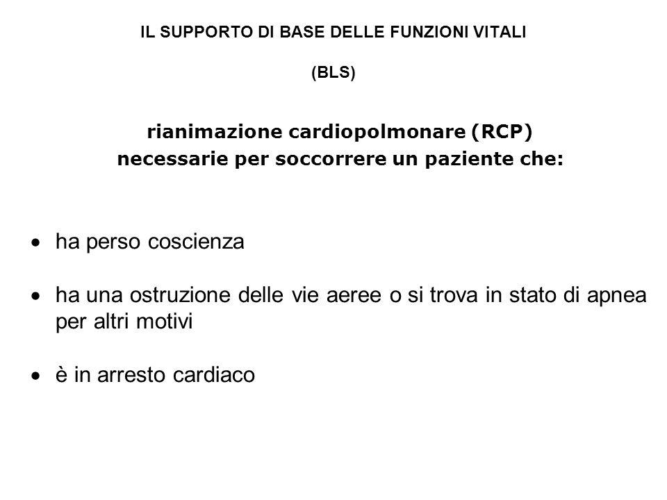 IL SUPPORTO DI BASE DELLE FUNZIONI VITALI (BLS)