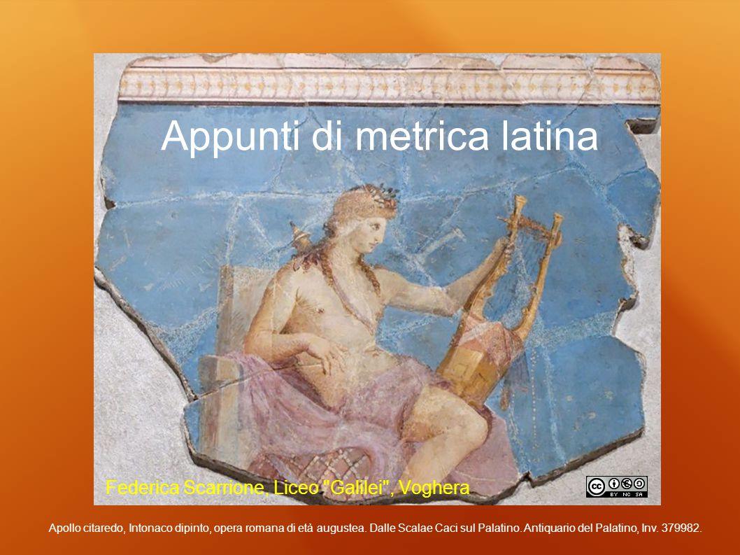 Appunti di metrica latina