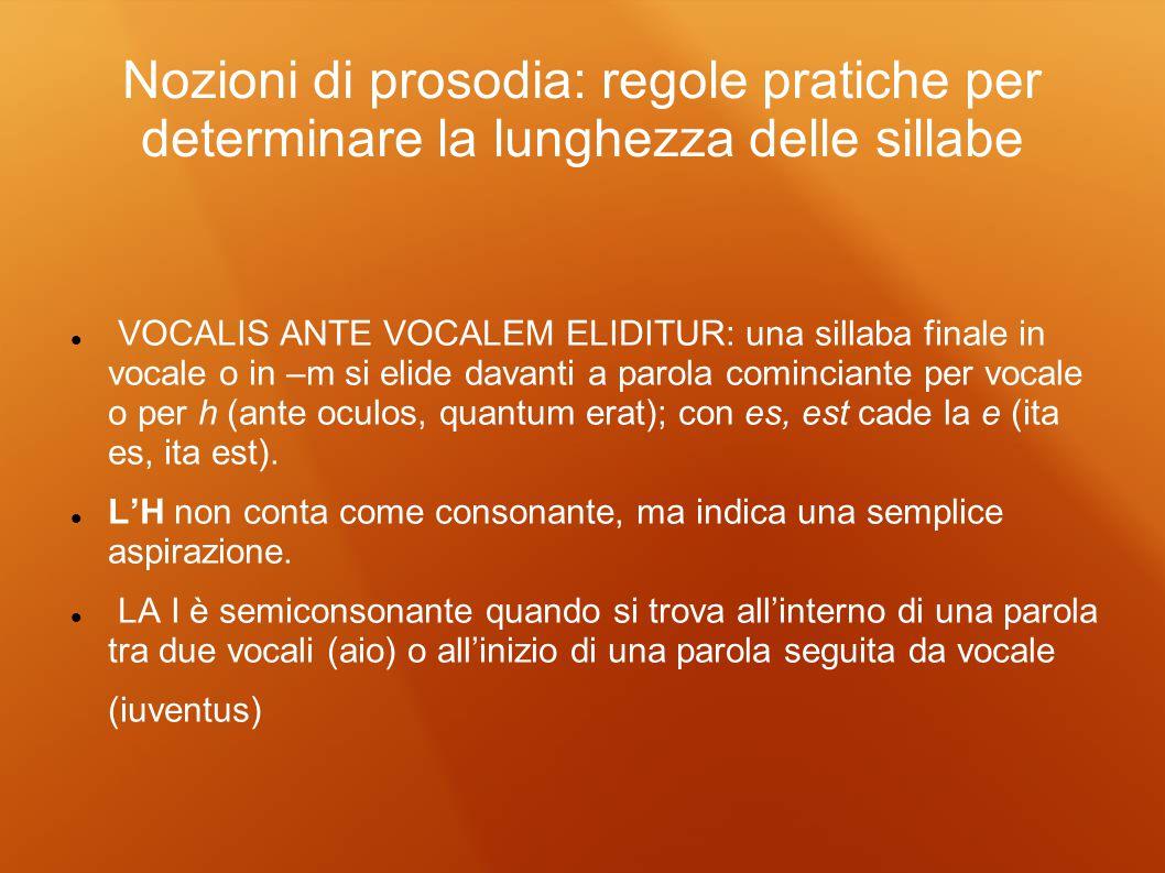 Nozioni di prosodia: regole pratiche per determinare la lunghezza delle sillabe