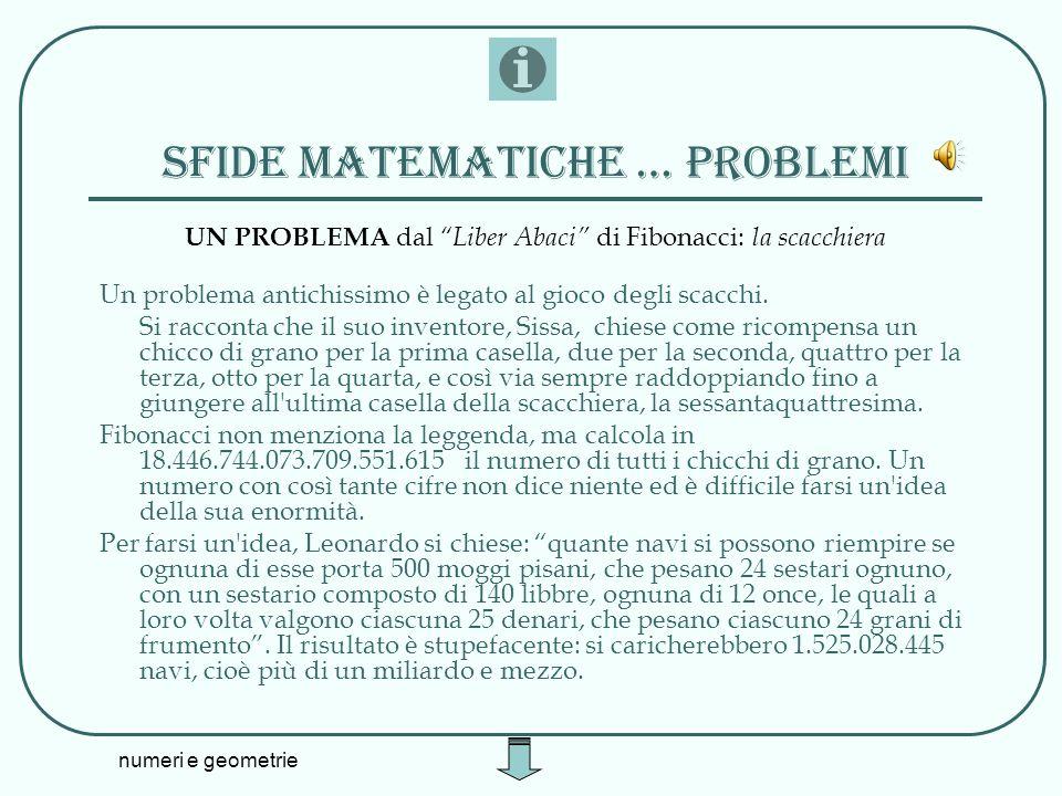 Sfide matematiche … problemi