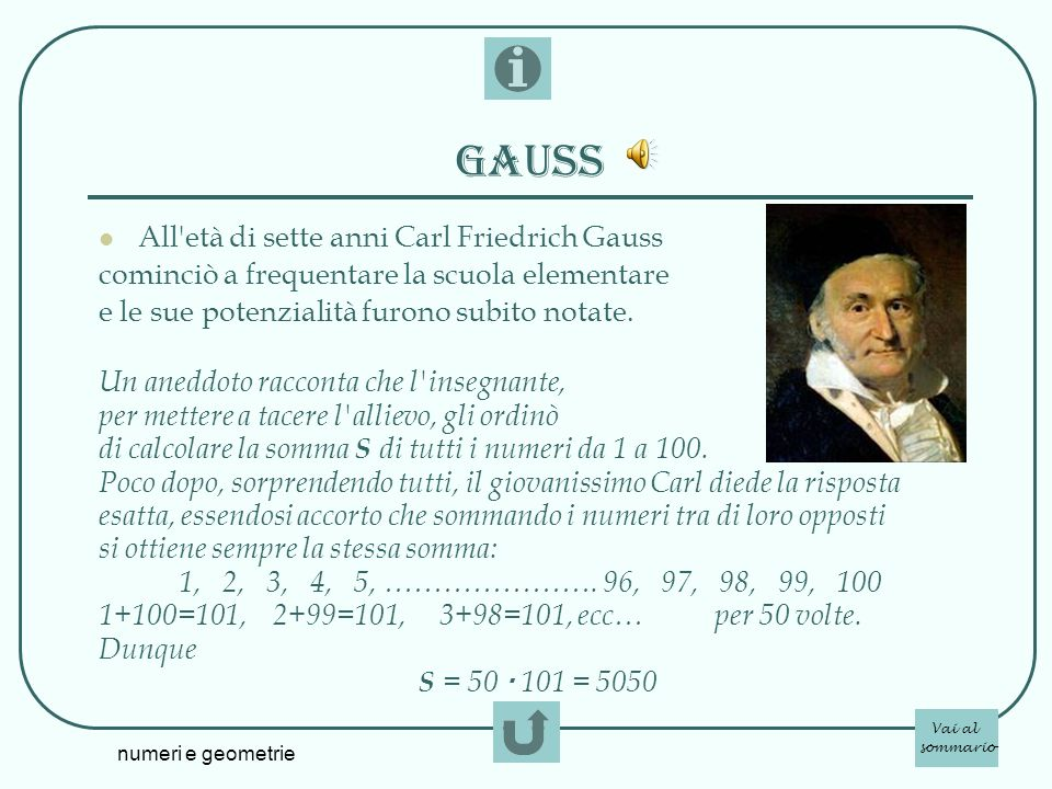 Gauss All età di sette anni Carl Friedrich Gauss