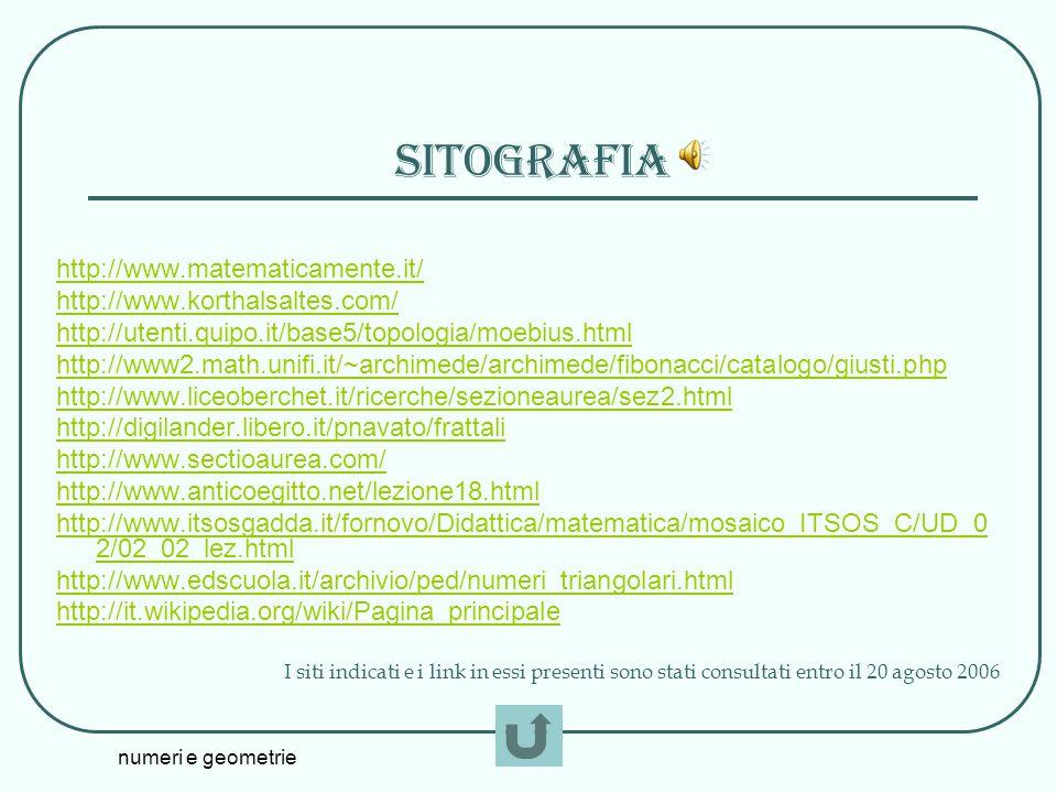 sitografia http://www.matematicamente.it/