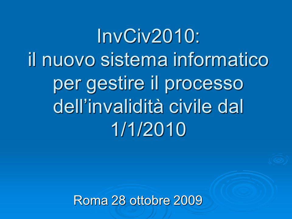 InvCiv2010: il nuovo sistema informatico per gestire il processo dell'invalidità civile dal 1/1/2010