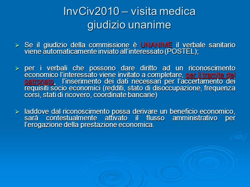 InvCiv2010 – visita medica giudizio unanime