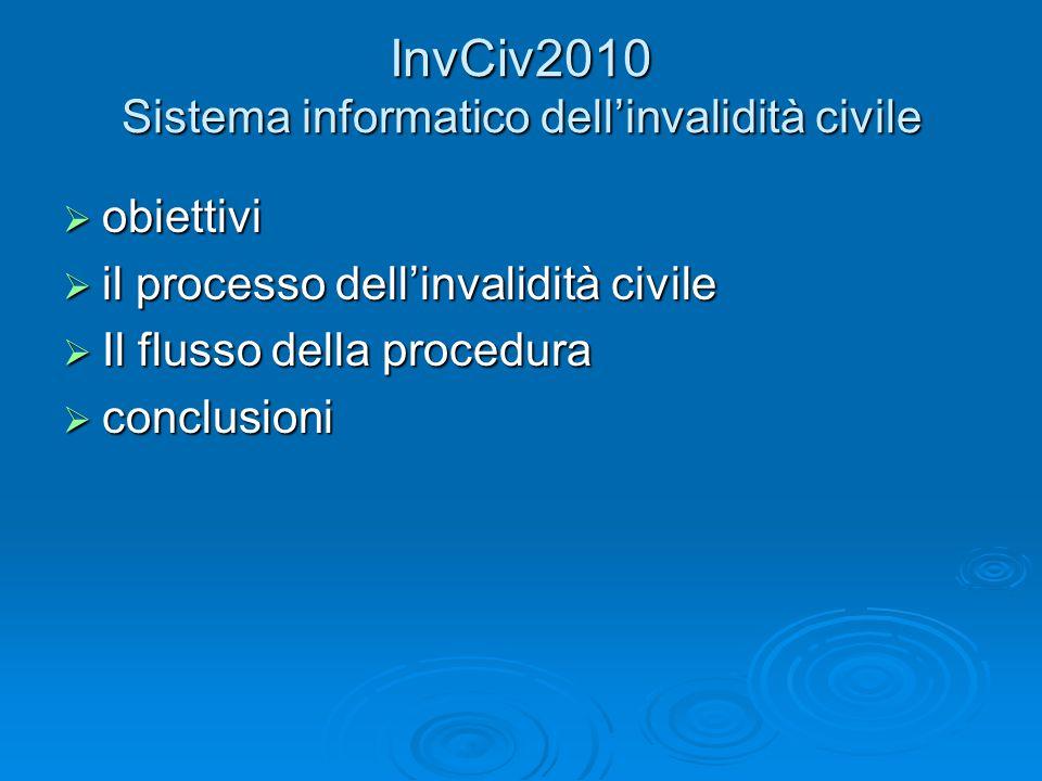 InvCiv2010 Sistema informatico dell'invalidità civile