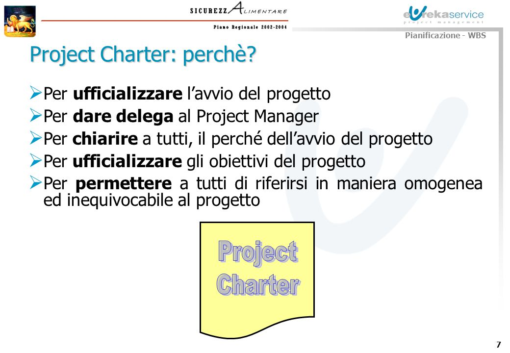 Project Charter: perchè
