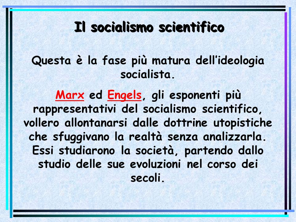 Il socialismo scientifico